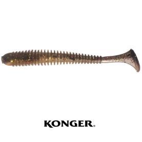 Konger Grubber Shad Skinny 7,5 cm Dark Gold Glitter