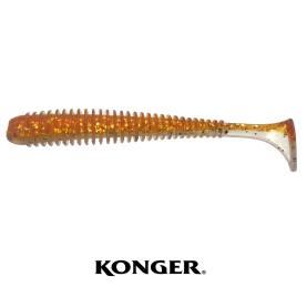 Konger Grubber Shad Skinny 7,5 cm Motoroil Gold Glitter