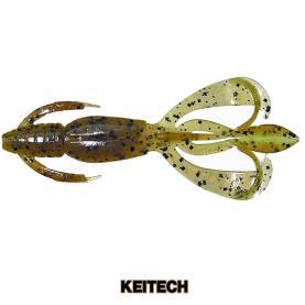 """Keitech Crazy Flapper 4.4"""" Green Pumpkin Chartreuse"""